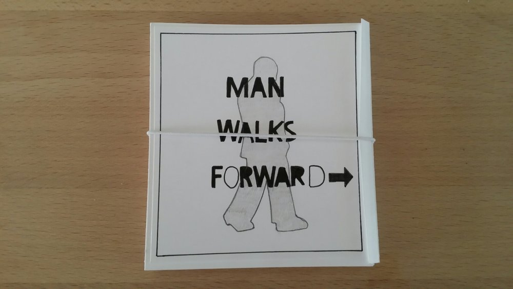Man walks forward