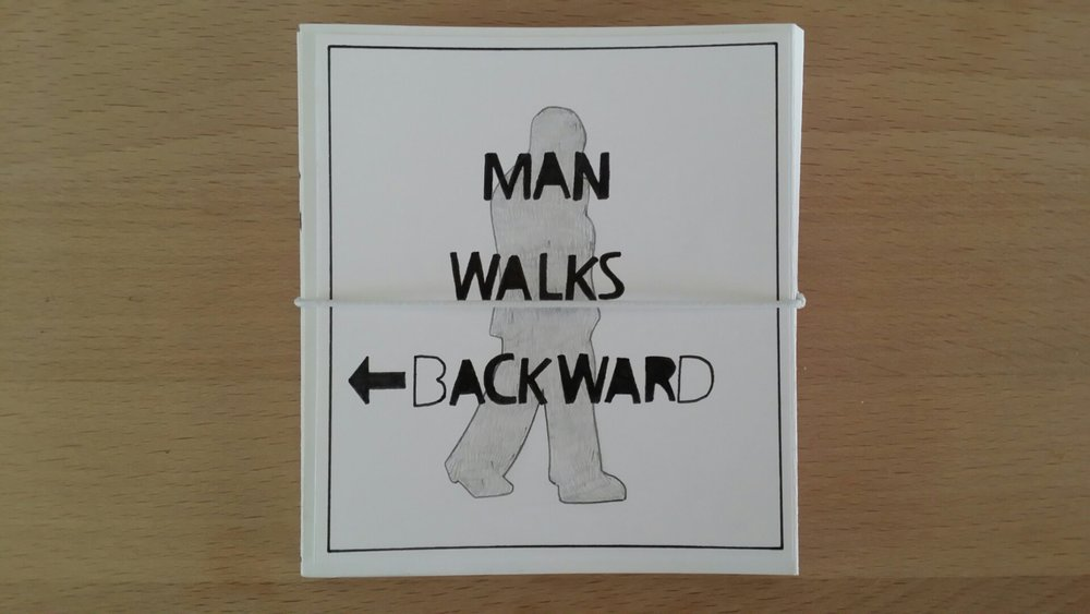 Man walks backward