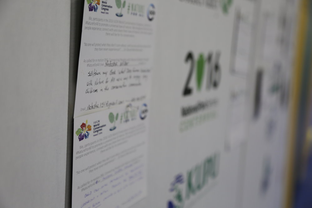 Over  120 partners have signed up to #NatureForAll, our pledge wall at #IUCNCongress was overflowing!