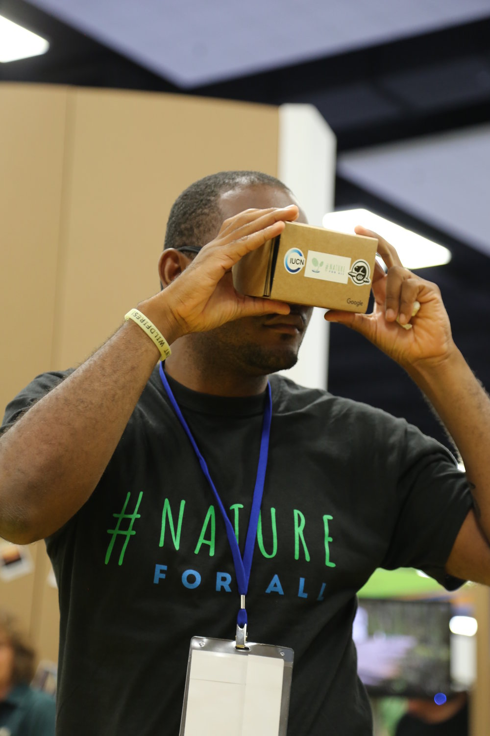 Google Earth Outreach  brought in Google Cardboard technology and took us on a virtual journey to some of the world's most beautiful protected areas.