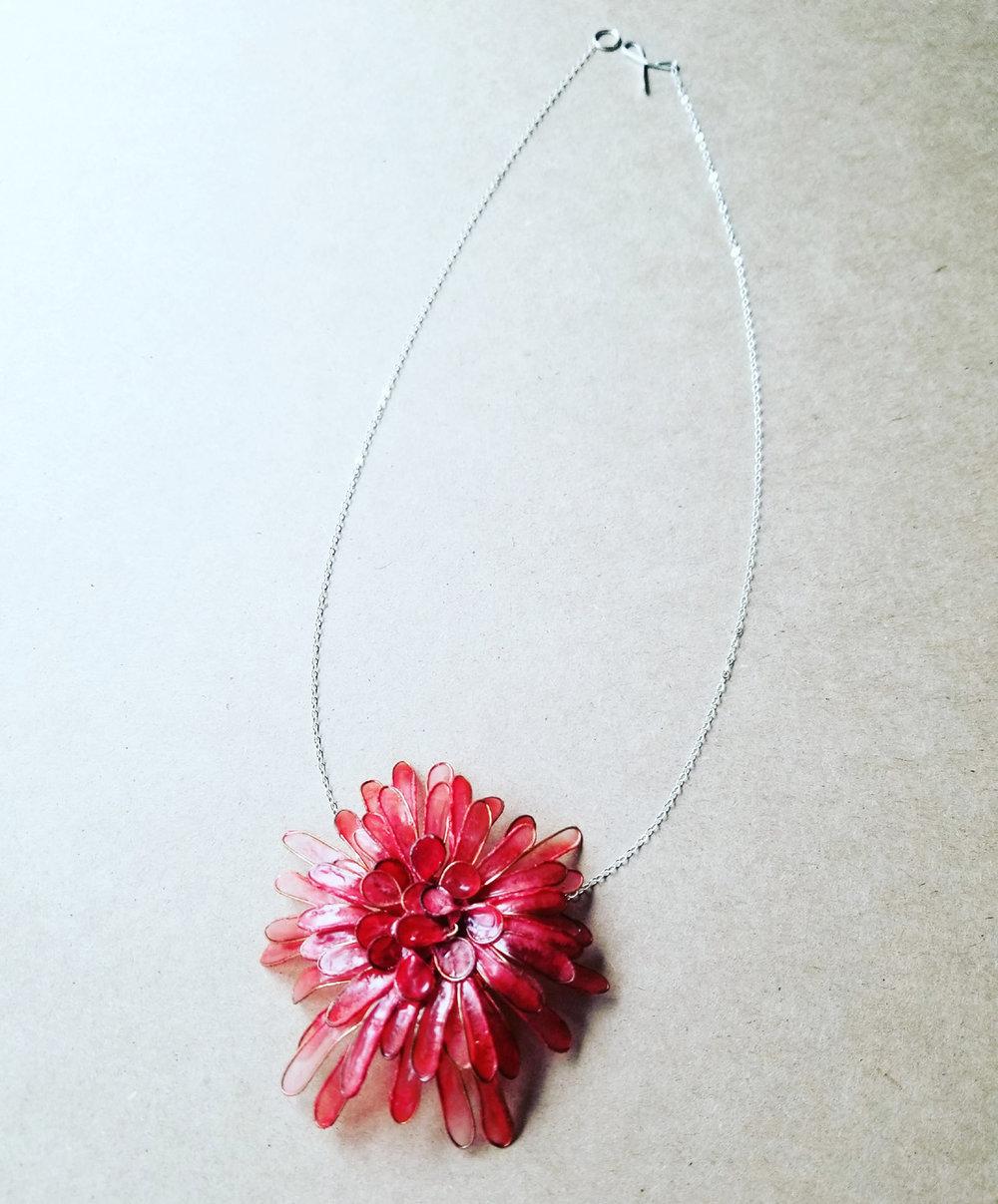 Melanie Brauner: Coral Chrysanthemum Necklace