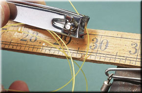 2. The rig body should be 36in long, but cut 42in to allow for the knot