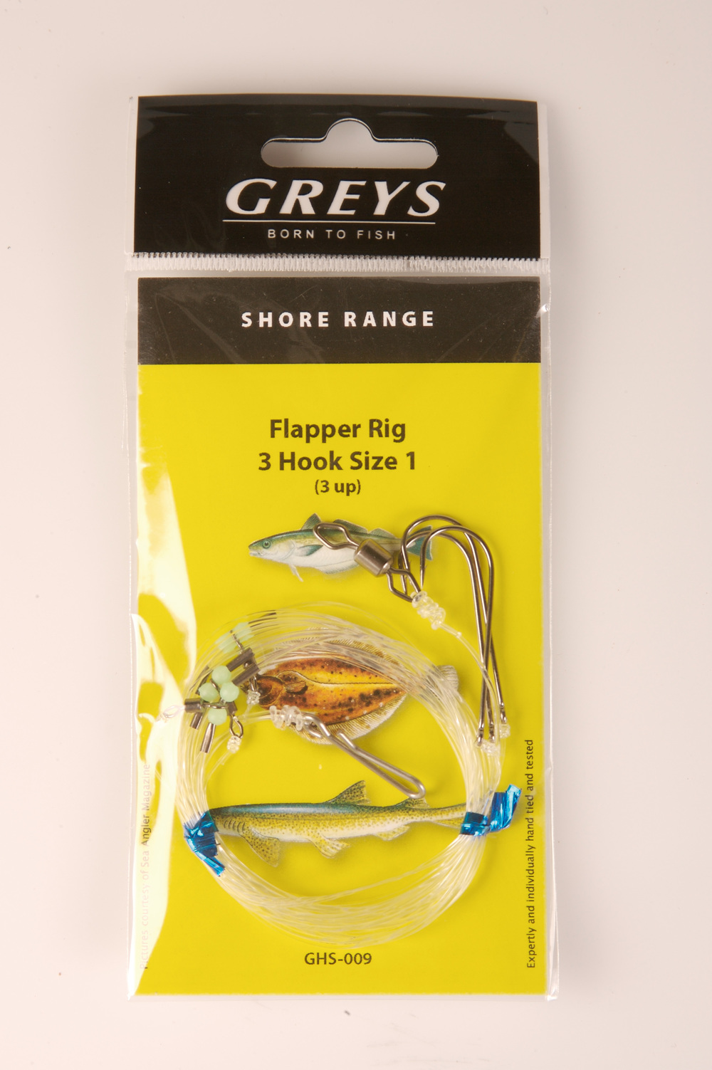 Greys Shore Tied Sea Rigs 3 Hook Flapper 3UP