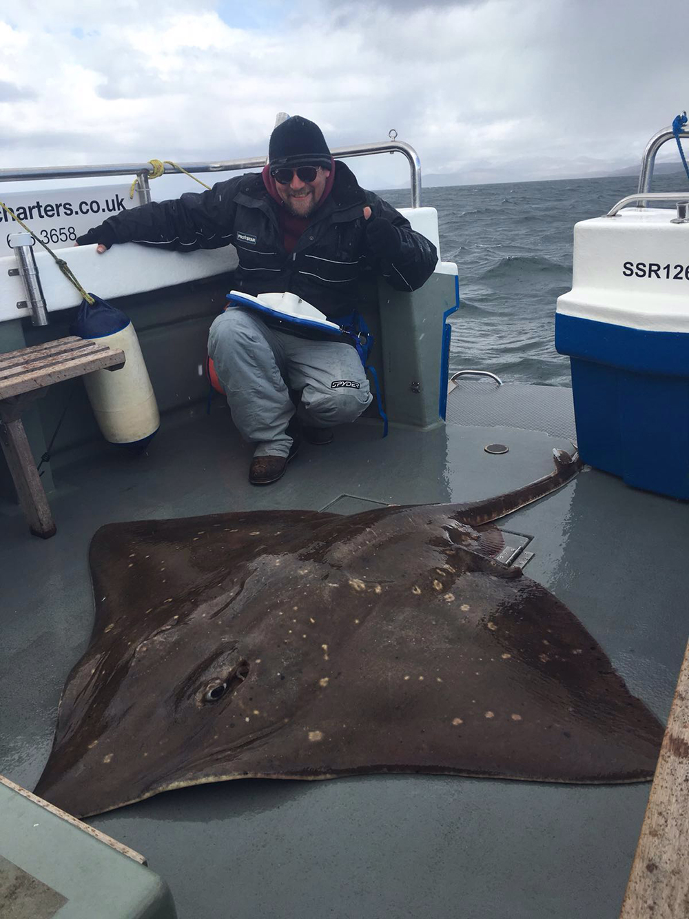 Rick Goodley with his 202lb skate