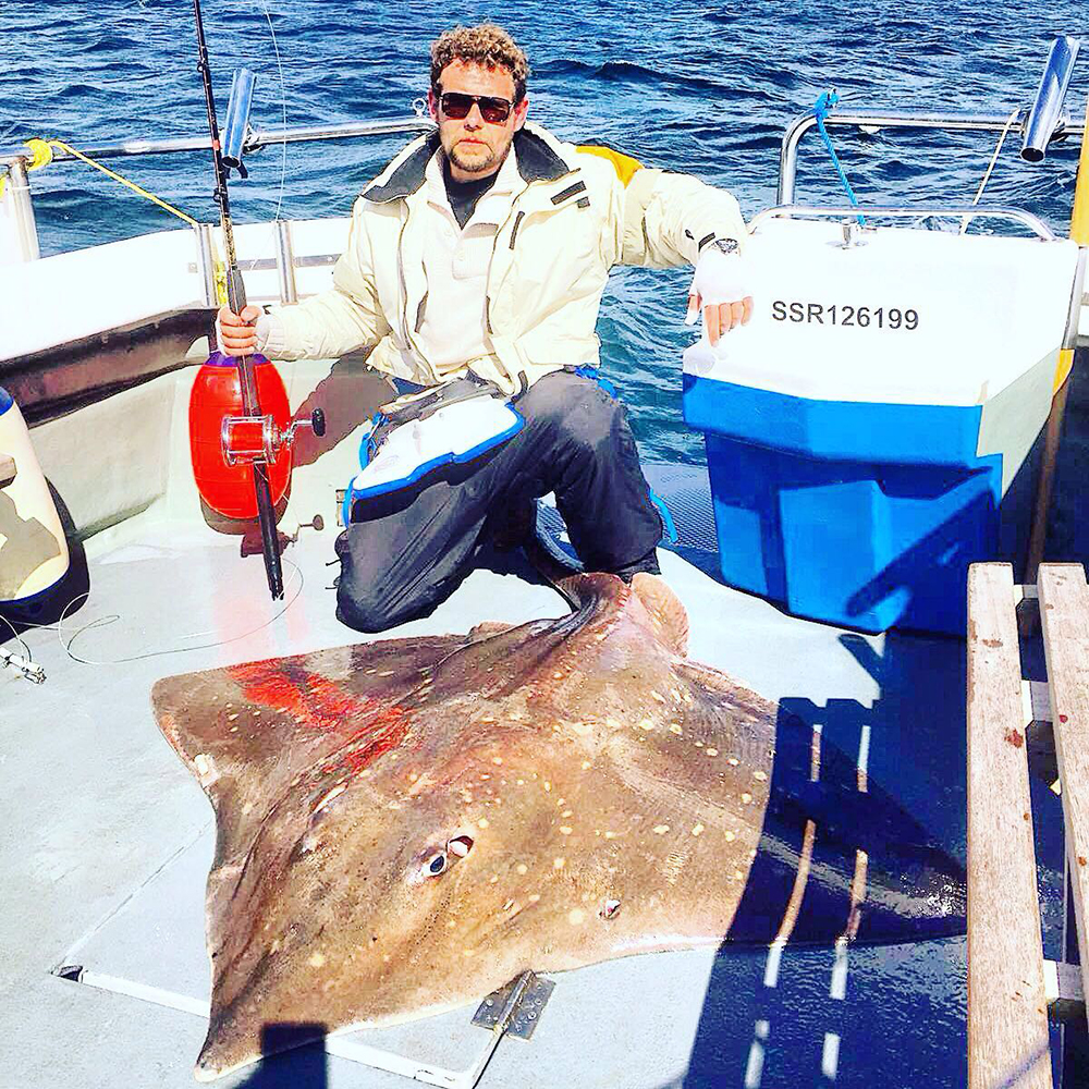Dave Rees-Williams with his 196lb skate