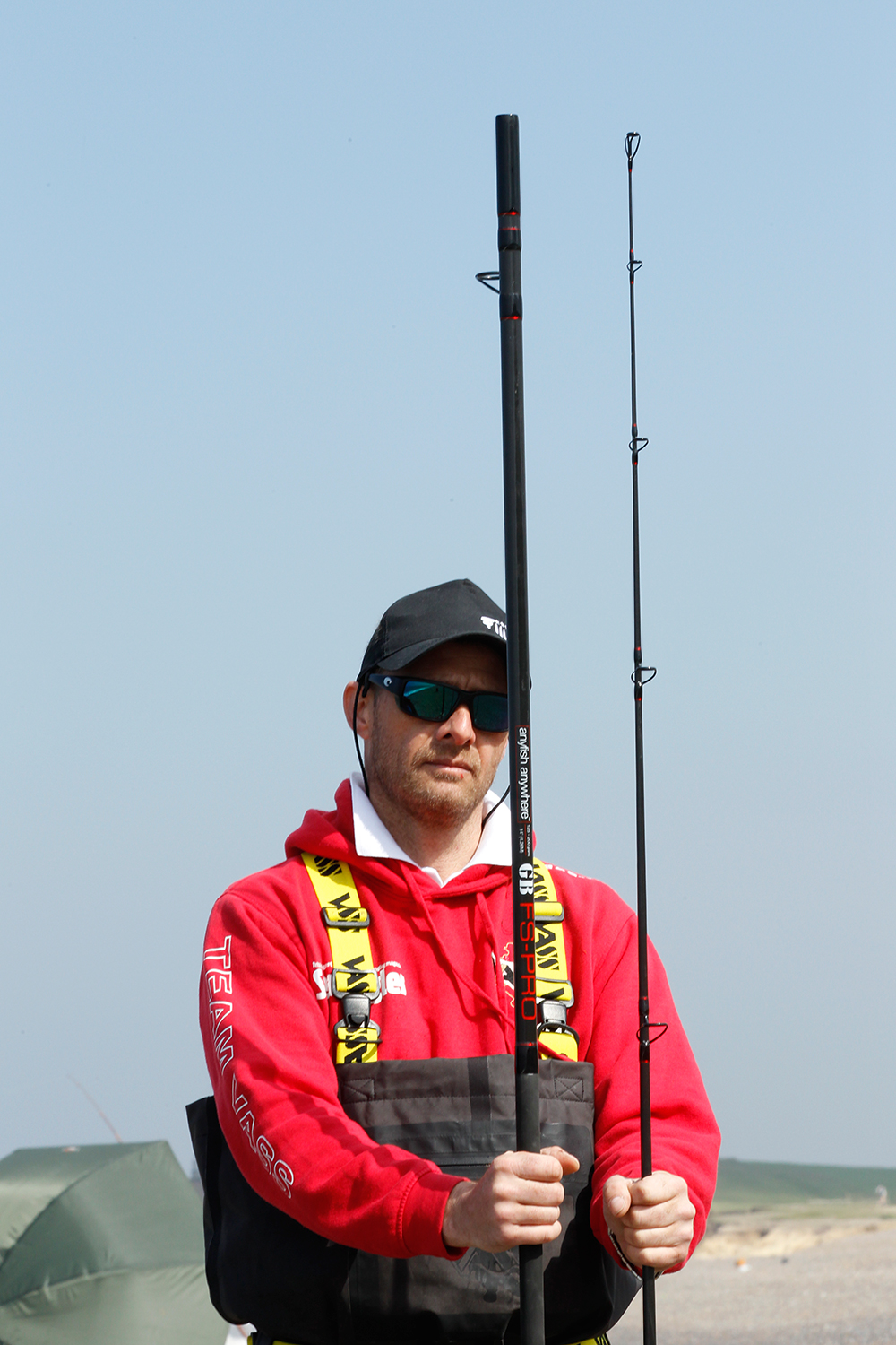 The new Anyfish Anywhere rod is made in two equal sections