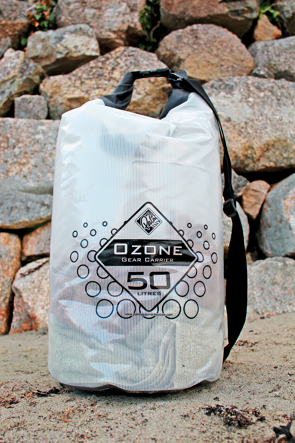 The smaller Ozone dry bag features transparent sides