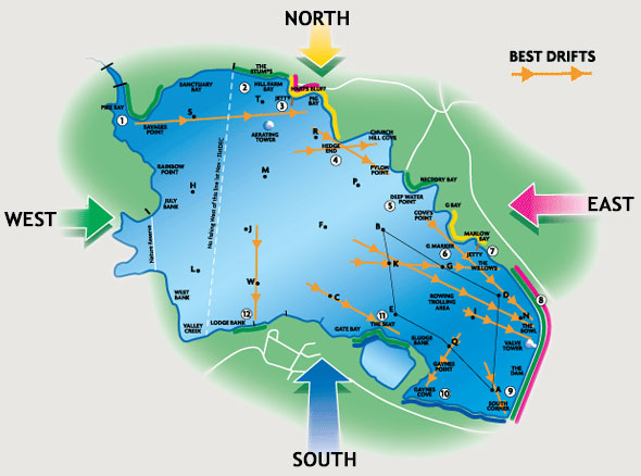 Stillwater and reservoir fly fishing guide grafham water for Best fishing areas near me