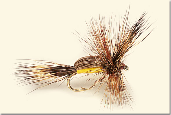 Salmon 6 x Yellow Hair Wing Humpy Dry Fly Fishing Flies For Trout