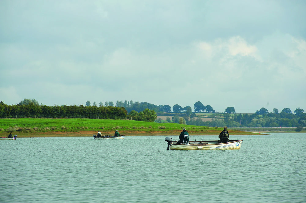 Flyfishing at Pitsford Water, Northamptonshire
