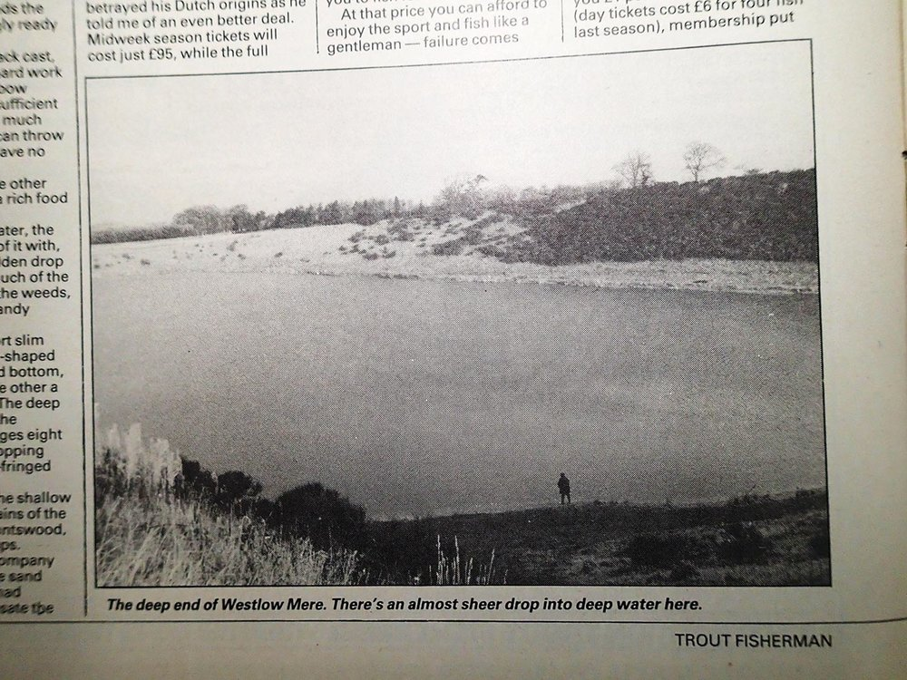 As you were – Westlow Mere's sand quarry origins are still evident in this early photo of the Cheshire venue.