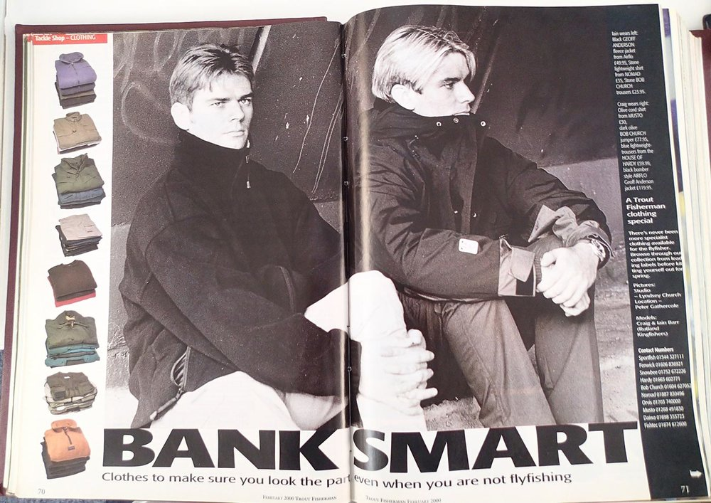 Before the tackle trade, came the rag trade. Barr brothers Iain and Craig go all enigmatic, when modelling clothing in 2000.