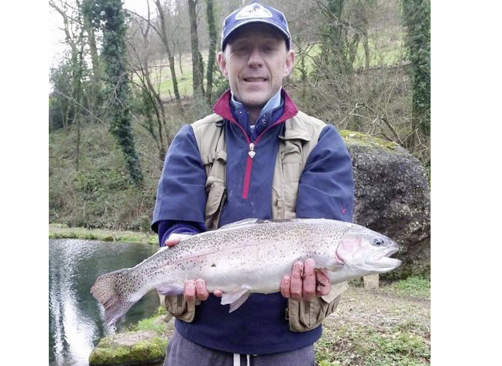 Dylan Thomas caught this 6lb rainbow at Bigwell fishery.