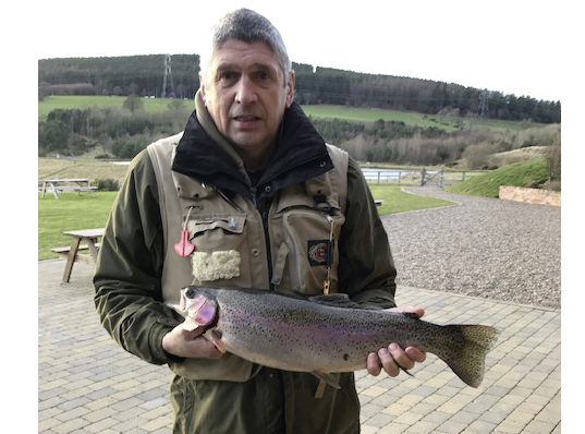 Alan Thompson from Ashington landed this 6lb 1oz Rainbow from Long Crag at Thrunton fishery using a Diawl Bach.