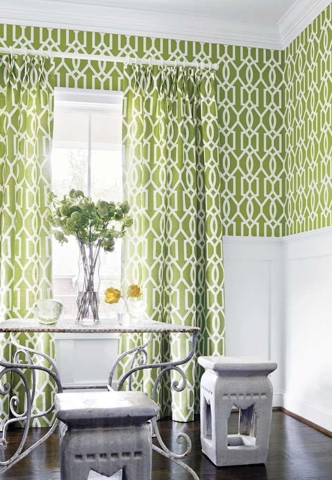 Thibaut-Downing-Gate-wallpaper-and-fabric-in-green-on-drapes.jpg