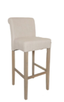 No. 6: This George Barstool is the traditional full upholstered bar stool and works in ever kitchen space.
