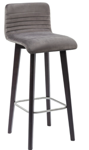 No. 8: This suede and metal bar stool is a contemporary style and is great for small counters as there is no arm rests.