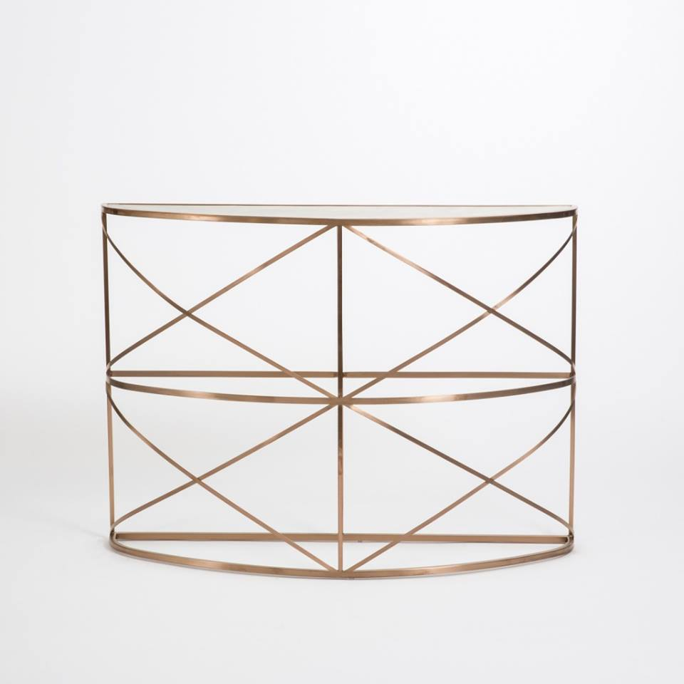 Rose gold console €525