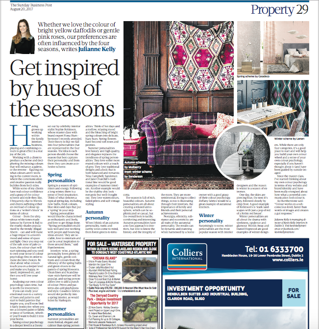 Here's a link to the actual piece so you can read it more clearly!https://www.businesspost.ie/property/get-inspired-hues-seasons-395818