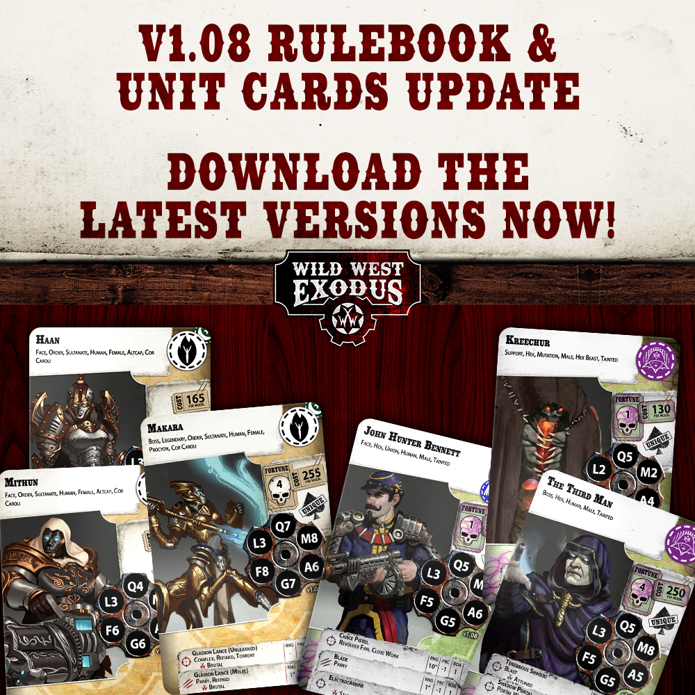 V1.08 Rulebook and Unit Card Update