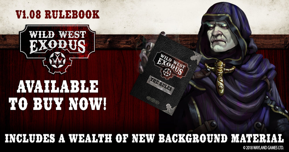 latest wild west exodus rulebook version 1.08 - english