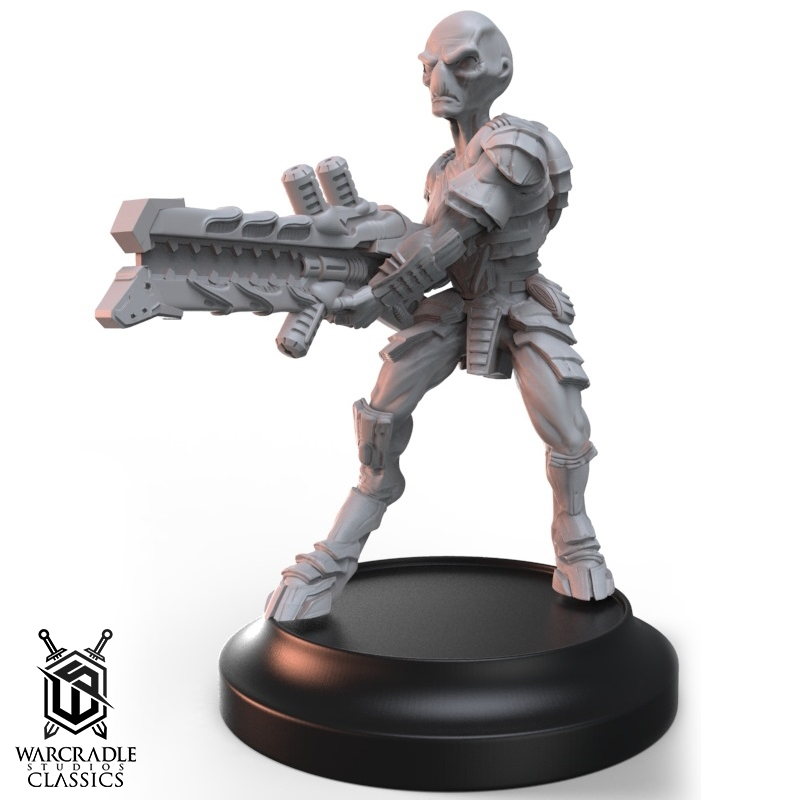 Grey with Heavy Drain Rifle