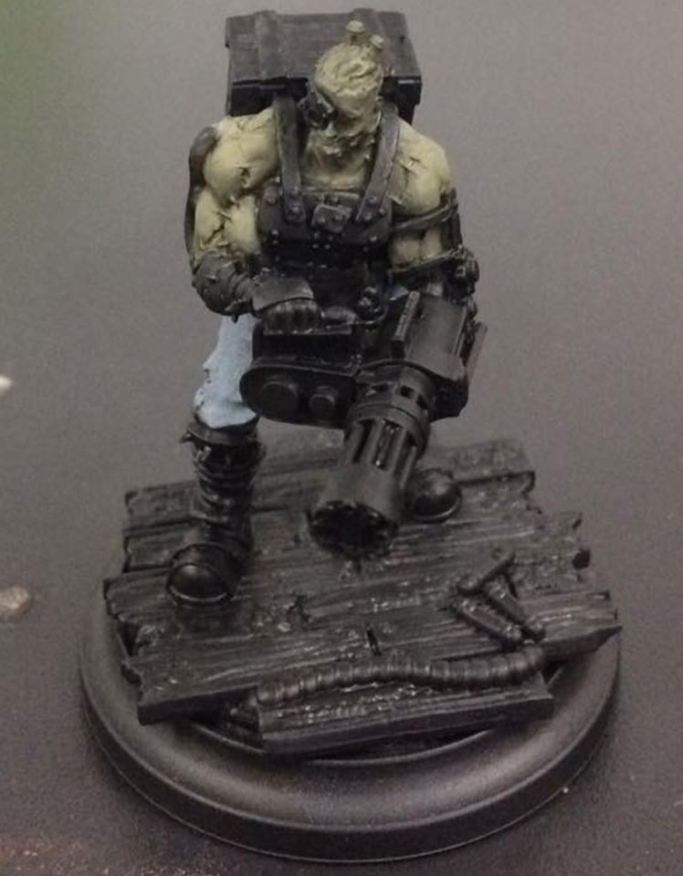Add more Ryn Flesh for your first highlight and aim this to cover the top half of the muscles.