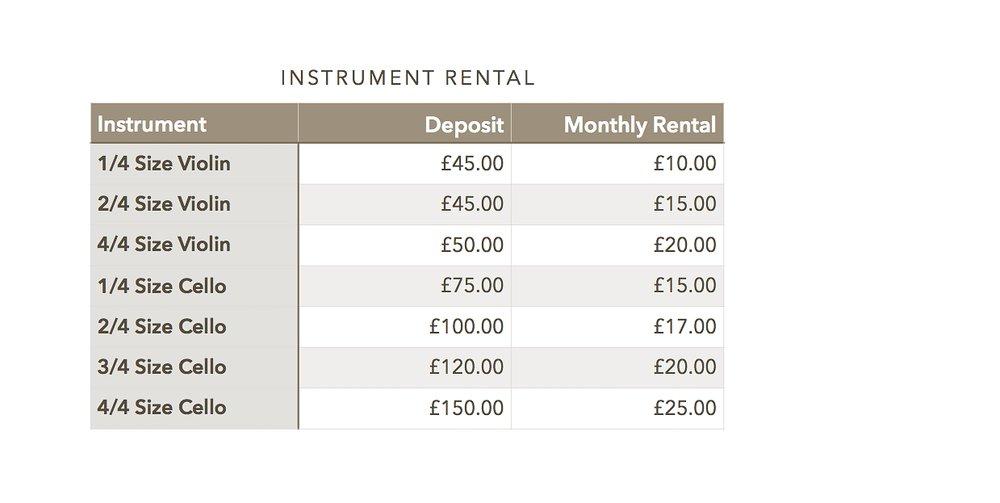 Instrument Rental