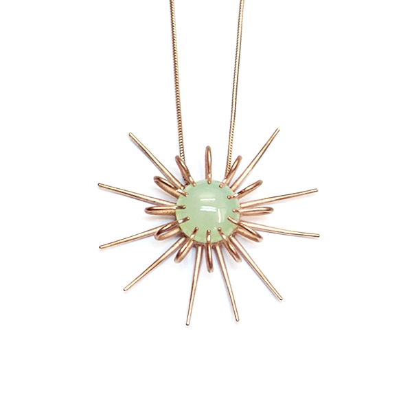 Rose gold vermeil and chalcedony 'Aulacantha' necklace