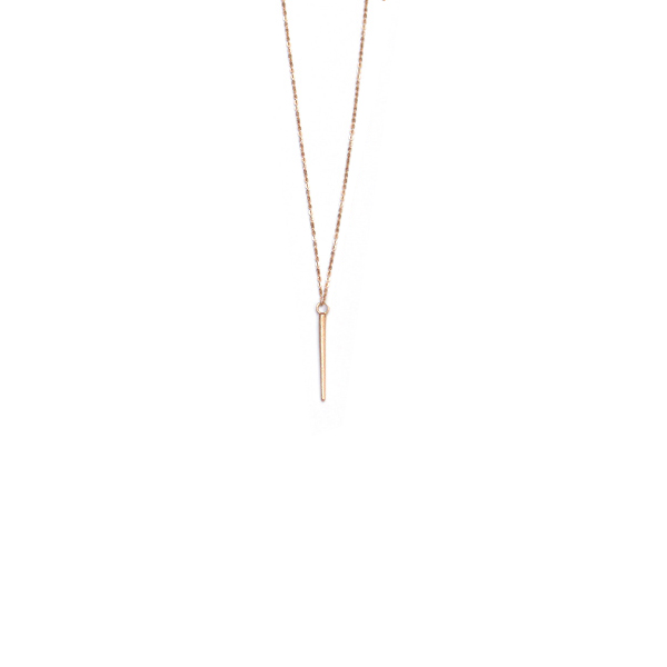 Rose gold vermeil single spike necklace