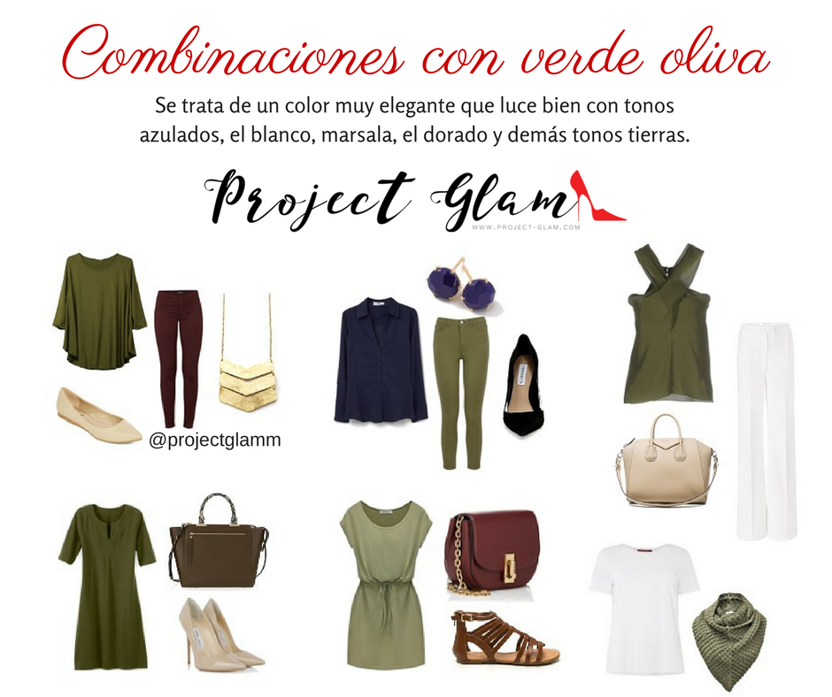 Cómo Combinar El Color Verde Oliva Project Glam