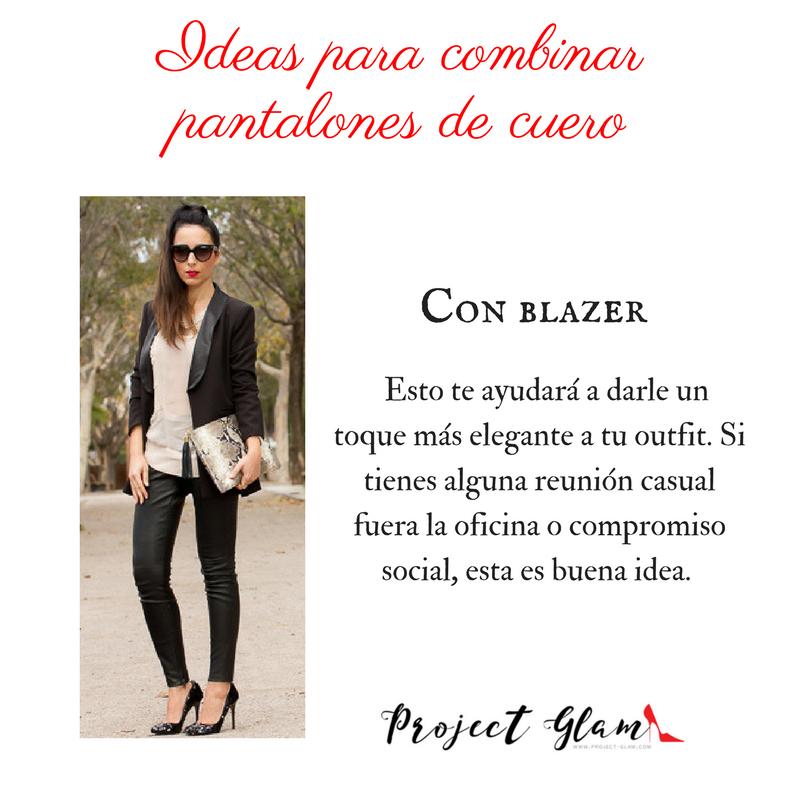 Total Black Look- el vestir monocromático con unos pantalones de cuero negro te hará lucir sofisticada. Elige prendas negras para completar el look. Procura que sean de la misma intensidad. (4).png
