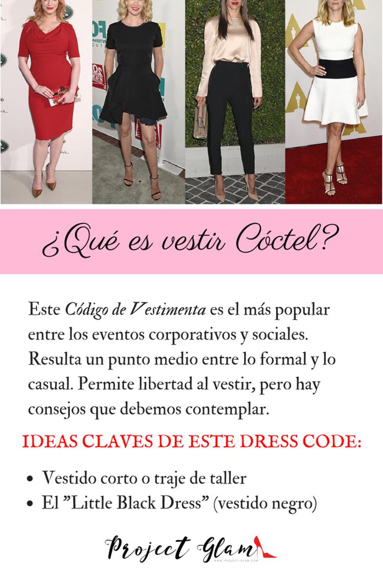 Qué significa vestir tipo Cóctel? — Project Glam