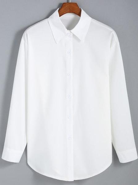 Blusa blanca de botones - Elegante. Para llevar cerrada o abierta como segunda capa.