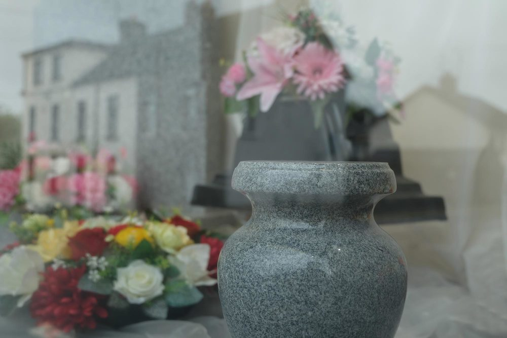 Urns and floral arrangements