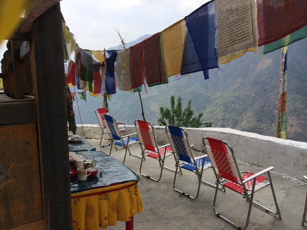 One of many lovely lunch spots along the road in Bhutan. Photo by Josh Engel.