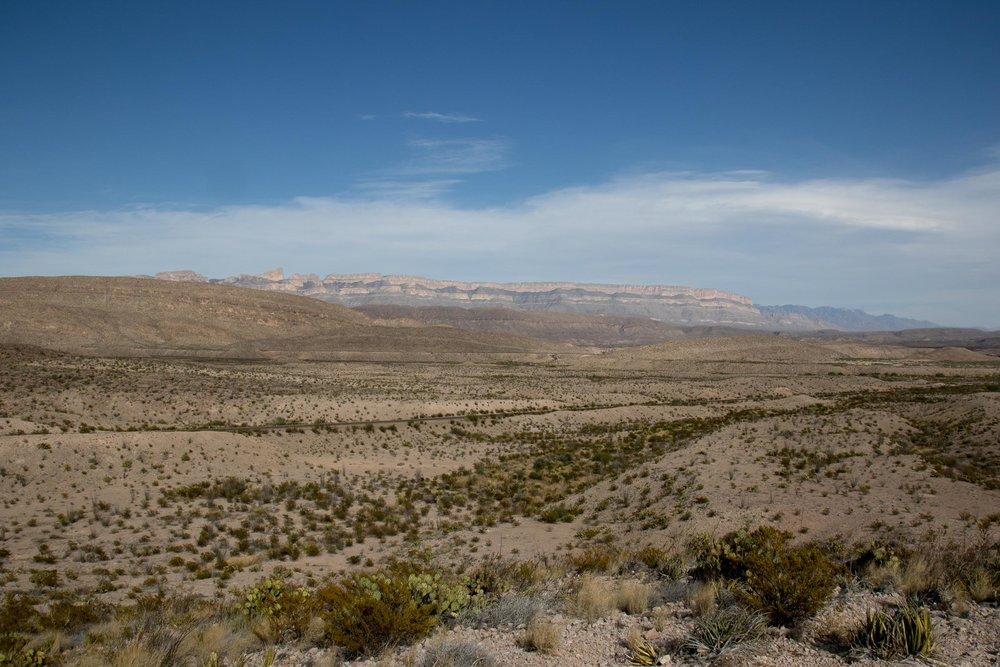 Big Bend desert scenery