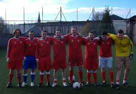 The Third Lanark Sevens team that took part in the Andrew Watson Memorial Trophy tournamnet in 2012.