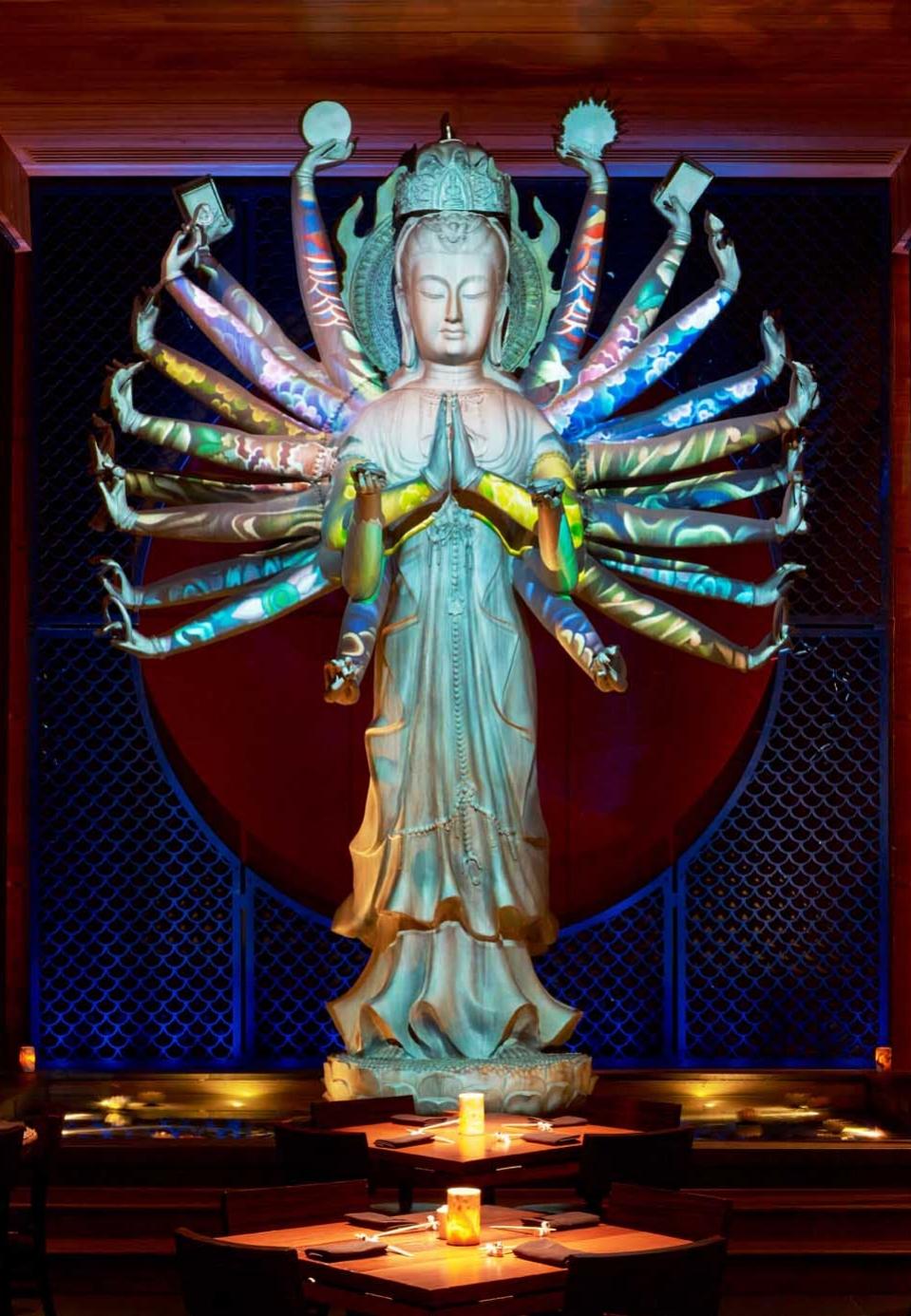 TAO Downtown   A transformative 20-foot Quan Yin statue in the restaurant