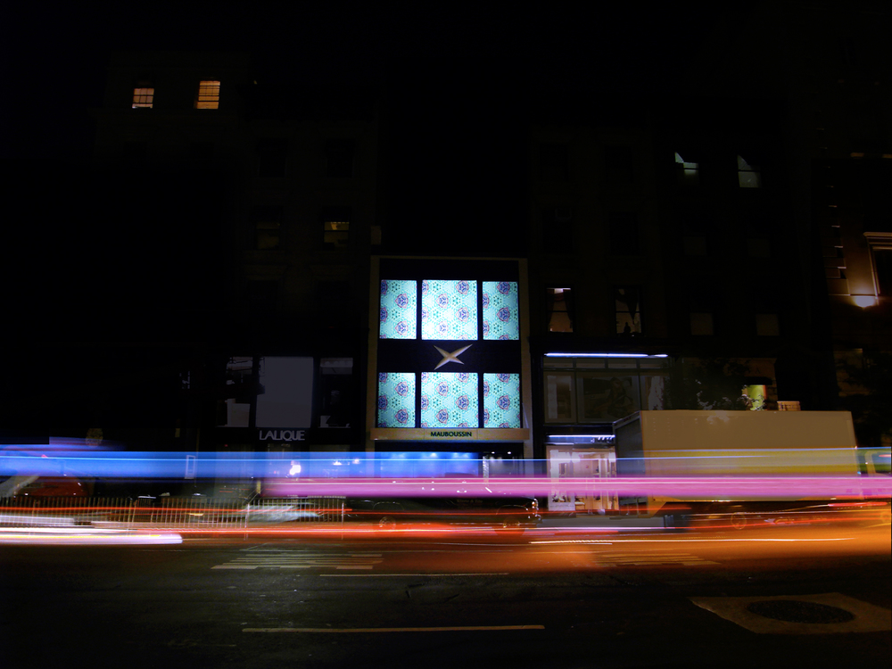 Mauboussin   A storefront as a dynamic showcase for jewelry at night