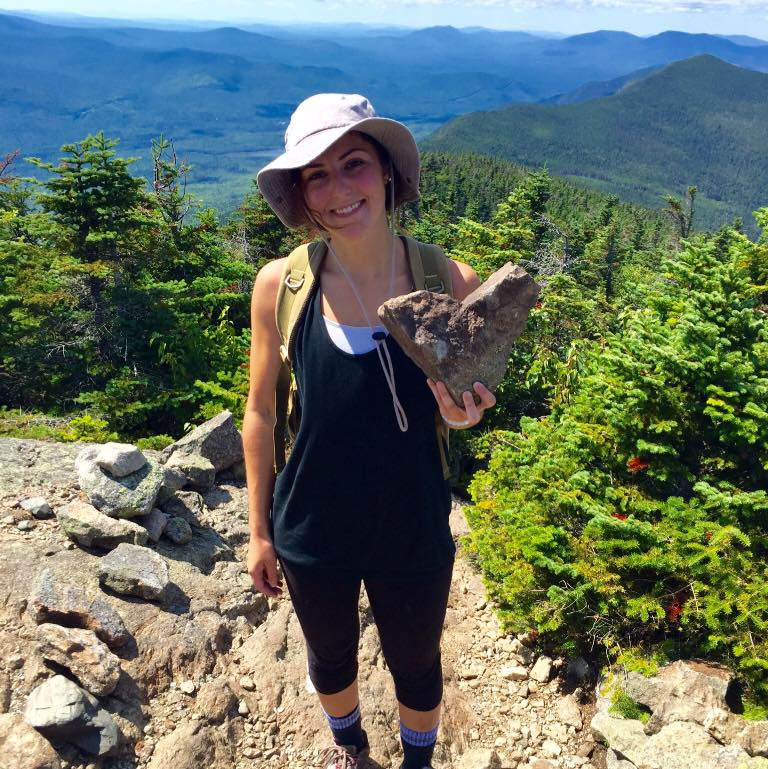 Me and my big heart on top of Mt. Bigelow, Maine