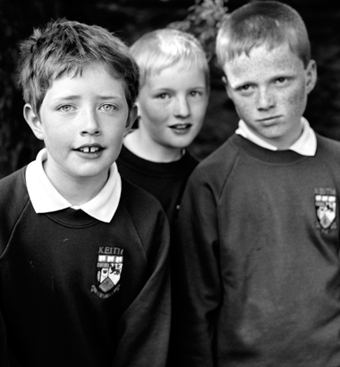 School Boys. Keith, Scotland 2002