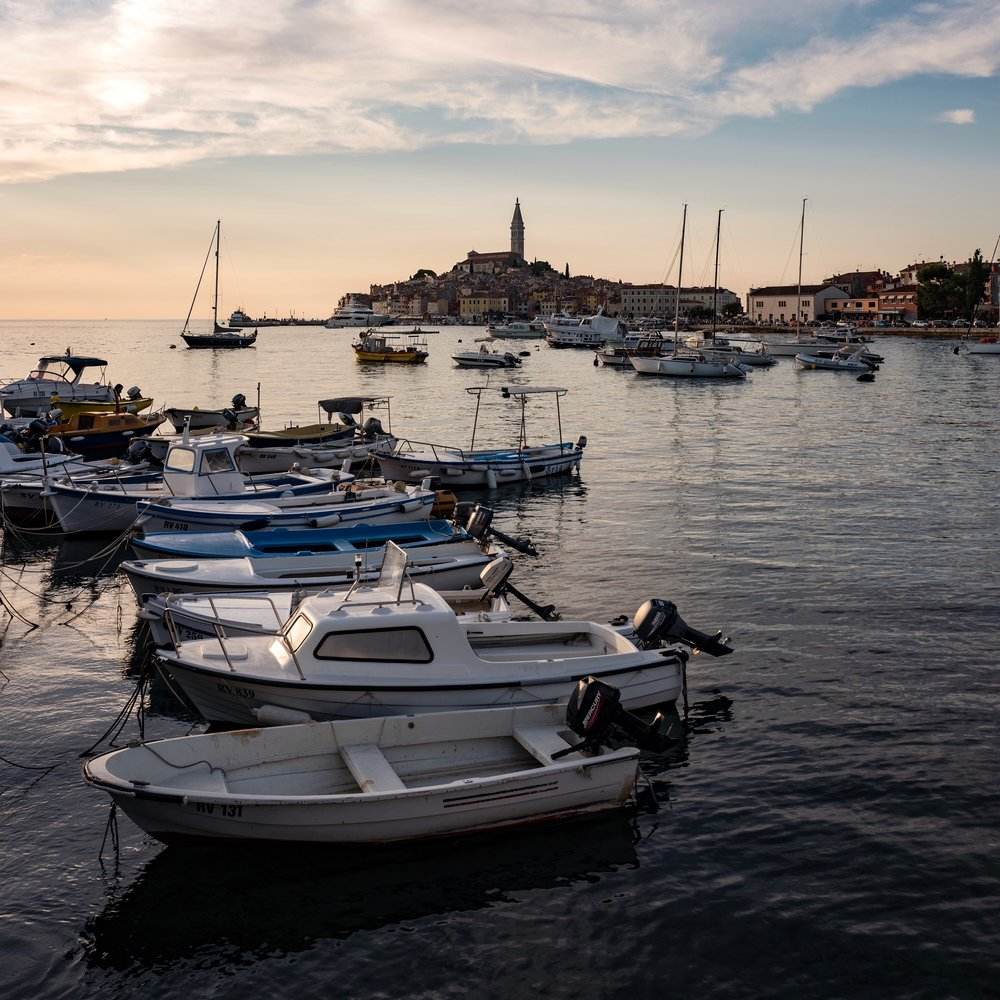 Rovinj, Croatia. I wanted to be able to get a closer shot of Rovinj across the marina, but instead had to settle for a wider contextual shot as a result of the fixed 28mm lens. Zooming with my feet was obviously not possible.