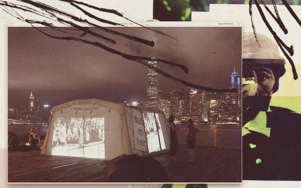 Uma tenda nômade, originada na Suíça, que percorre o mundo convidando o público a descobrir visões, ações, escândalos e histórias de amor de 165 dadaístas.Adrian Notz é o seu anfitrião. Saiba more ou less