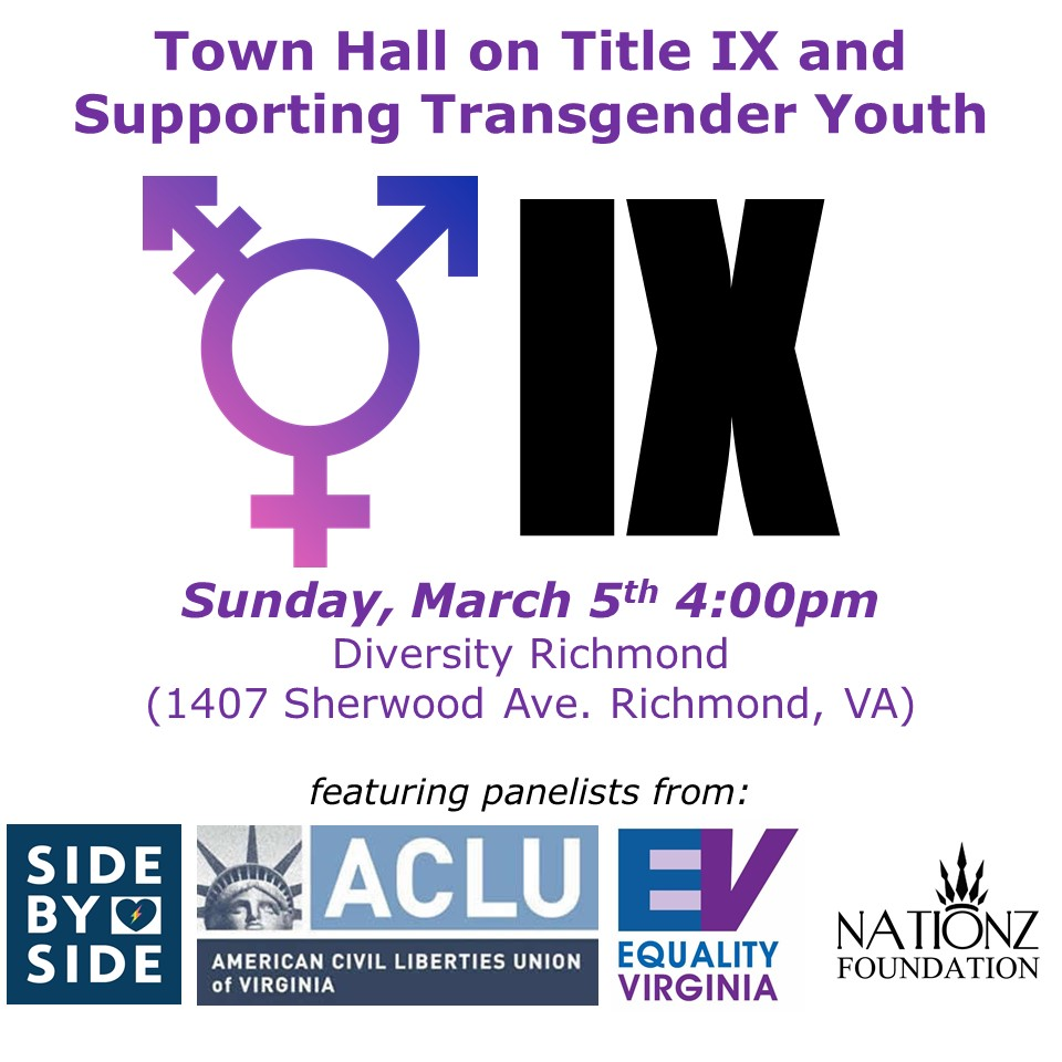 Click here to listen to the Town Hall on Title IX and Supporting Transgender Youth.