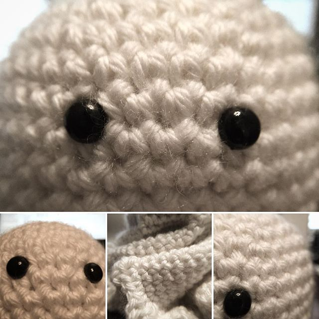 Look who's back! Caught this twit with my phone this morning trying to take selfies. Silly George. . . . . . . . . . . . . #adventuresofgeorge #ghost #halloween #yarn #crochet #crochetersofinstagram #wool #yarn #crochetofinstagram #freecrochetpattern #ravelry #download #seasonal #scary #silly #sillygeorge