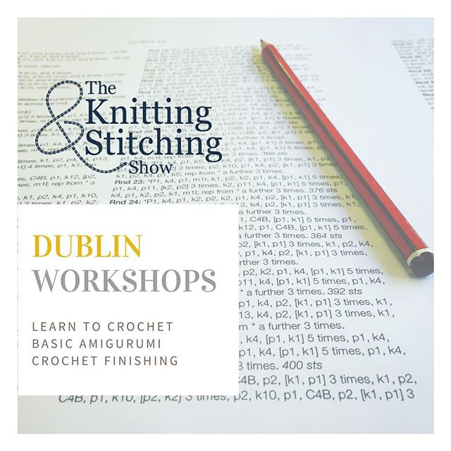 Heading to the Knitting & Stitching show next month in #Dublin ? Come learn something new or brush up on those old skills in my selection of crochet workshops. ⠀ .⠀ .⠀ .⠀ .⠀ .⠀ .⠀ .⠀ .⠀ #knittingandstitchingshow #crochet #making #learning #workshops #craft #knitting #education #somethingnew #learnsomethingnew #wool #lana #laine #prjóna #strick #yarn #tricot #punto #show