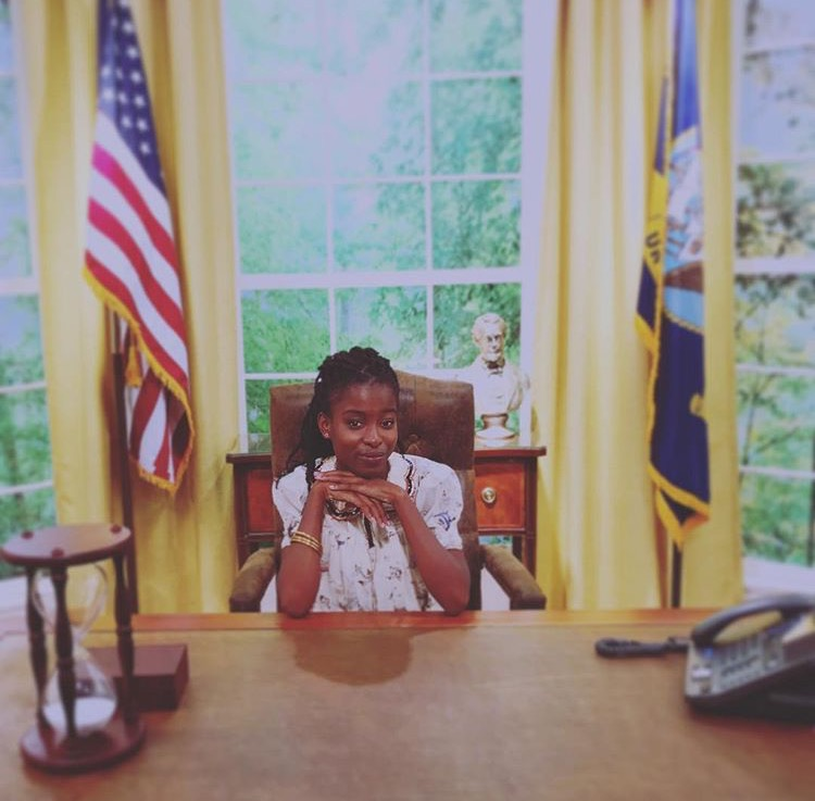 "Amanda's Instagram bio says ""President 2036."" Let's keep our fingers crossed!"