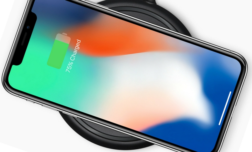 Et voila! iPhone X on it's wireless charging base.