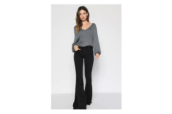 7 for All Mankind B(air) High Waist Ali with Side Splits, $219